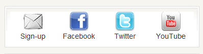Add social icons to your side bar