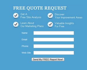 Make it easy for people to contact you and offer a freebie