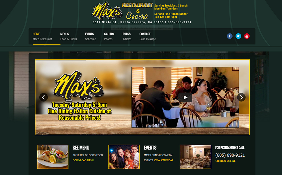 Maxs Restaurant in Santa Barbara