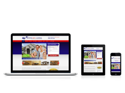 Mobile Friendly Pest Control Website