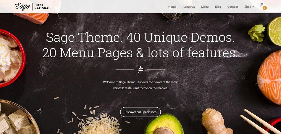WordPress Themes for Restaurants